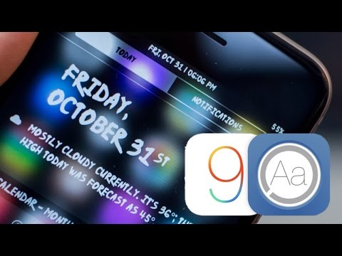 How to Install & Change Fonts on iOS 9 (Any iPhone/iPod/iPad) iPhone 6S Also!