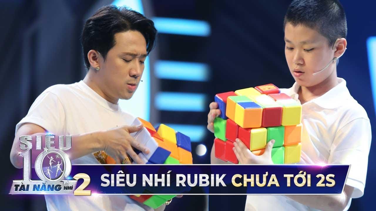 Siêu Nhí giải rubik chưa đến 2s 'PHÁ VỠ MỌI KỶ LỤC' Trấn Thành và Hari Won đặt ra | Tập 4 Super 10
