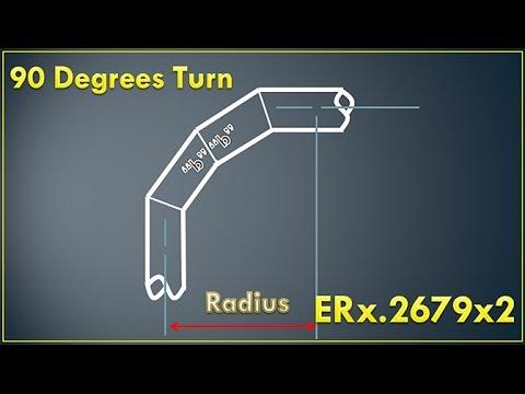 Miter Cuts Pipefitter Four Piece 90 Degrees Turn ( ER x .2679 x 2 ) = Dimension
