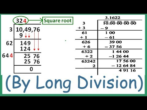 Square Root (varg mul) By Divide (Division) Method Bhag Vidhi Square Root By long Division Method