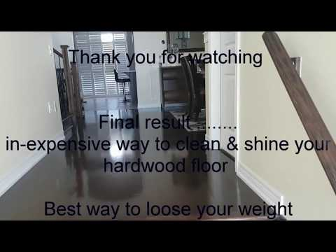 How to make hardwood floor Clean & Shine without spending big money