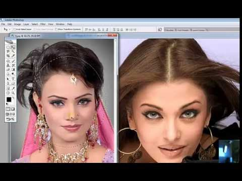 How to Change Face & Face Adjustment in Adobe Photoshop CS2 Training in Urdu Hindi Part 3