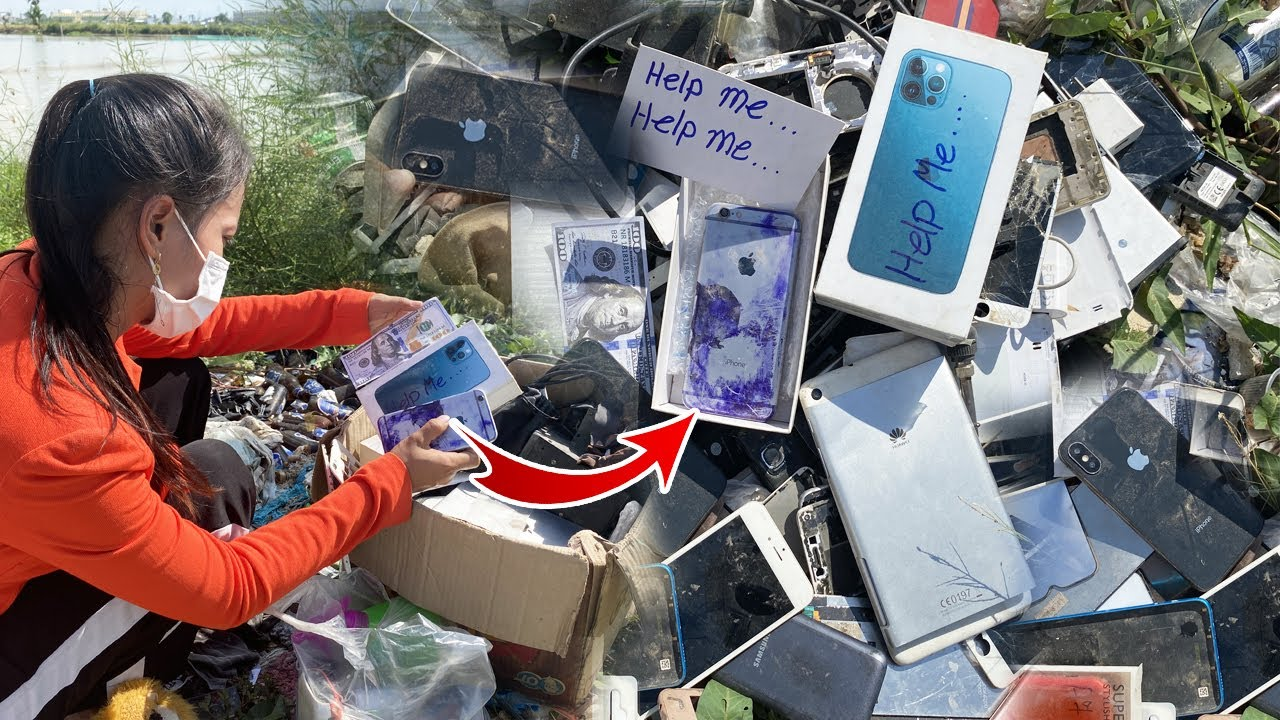 found iphone 6 in box iphone 12 pro max,Restoration abandoned destroyed phone,Restore iphone old