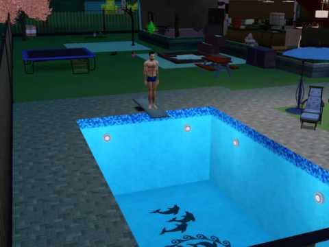 Sims 3 - Big Diving Board Splash