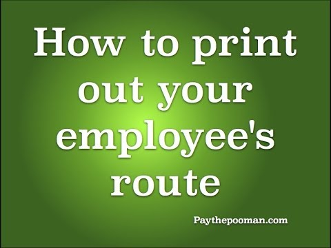 How to print your employees route in Paythepoolman Plus