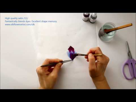Silk flower making - High quality satin /11/