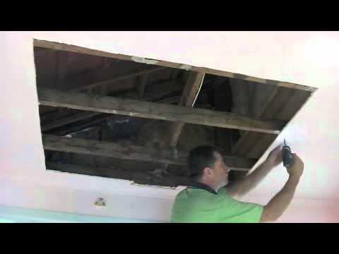 Water DamageDrywall Plaster Ceiling Repair - Part One