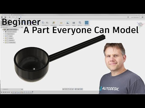 Fusion 360 — Beginner — A Part Everyone Can Model — #LarsLive 83