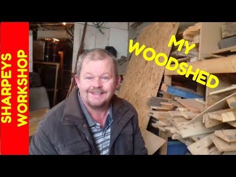 workshop update vlog wood shed tour stickers