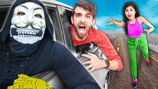 TRAPPED IN HACKER CAR! SPY NINJAS Spending 24 Hours Searching for Where PZ9 is Keeping Daniel