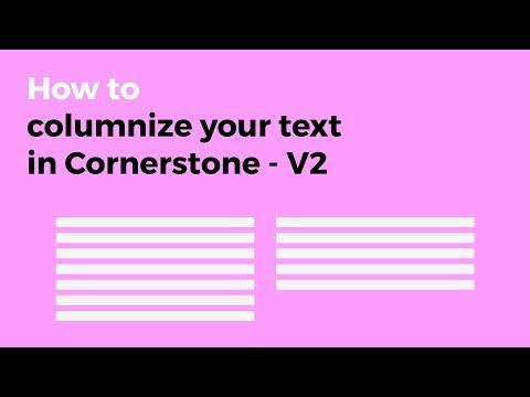V2 - Columnize Your Text in Cornerstone