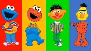 Sesame Street Wrong Heads Elmo Bert and Ernie Cookie Monster Finger Family Nursery Song