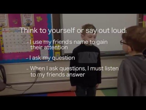 Social Skills using Video Modeling - Asking Good Questions