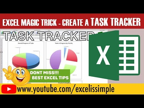 How to design your own task tracker, To Do List in excel with dashboards, reports and charts