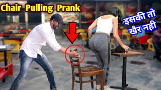 Scarry Hand Prank With Chair Pulling Prank || Fabulous Reaction With Cute Girls || Prank Shala
