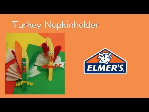 Thanksgiving Turkey Napkin Holder - Elmer's Crafting Club