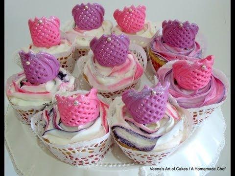 How to make Gum Paste Tiara cupcake Toppers