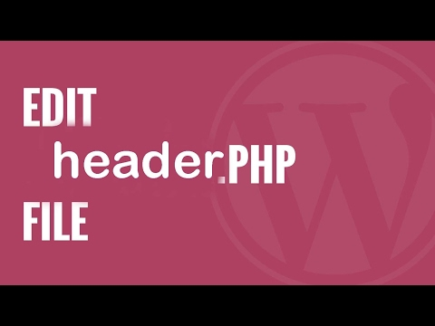 The Way To Access header.php File WordPress?