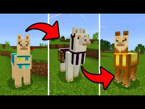 MCPE 1.1 UPDATE!!! - How to Tame & Decorate a Llama - (Pocket Edition)
