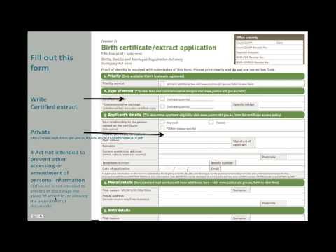 Queensland Birth Documents
