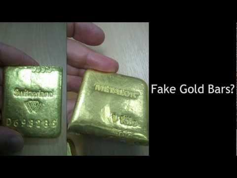 Tungsten Filled Gold Bars?
