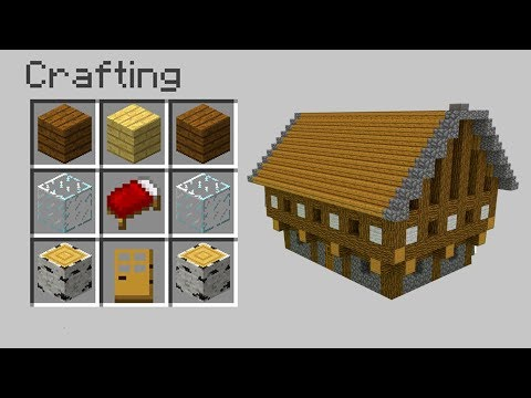 HOW TO CRAFT A HOUSE in Minecraft?!!