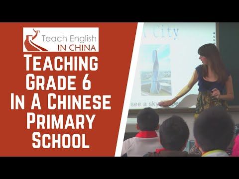Teach English in China: Primary School teaching, Grade 6