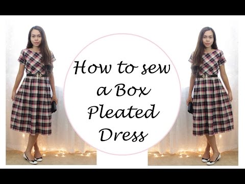 How to sew a Box Pleated Dress, Vintage Inspired