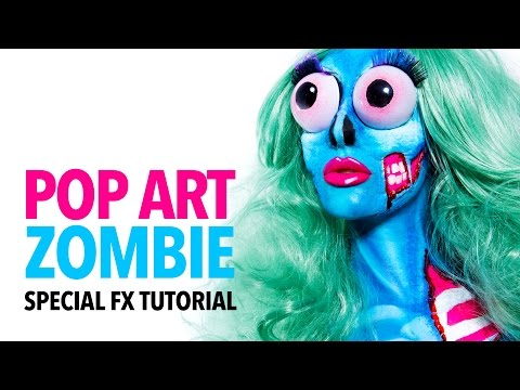 Popart zombie makeup tutorial