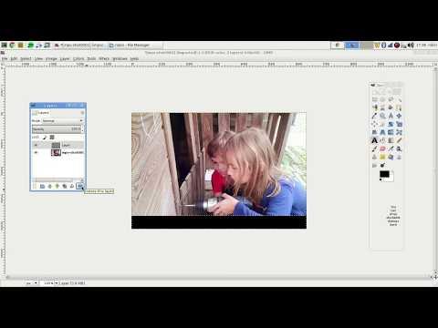 Adding simple watermark using GIMP.