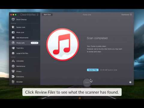 Clean iTunes with CleanMyMac 3