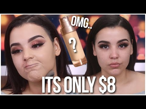 THE BEST $8 DRUGSTORE FOUNDATION EVER!!! | FIRST IMPRESSIONS FOUNDATION REVIEW!