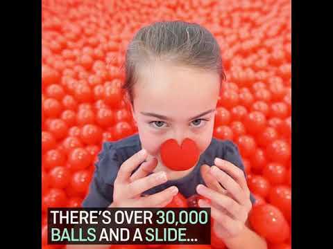 Qantas Red Nose Day Ball Pit 2017