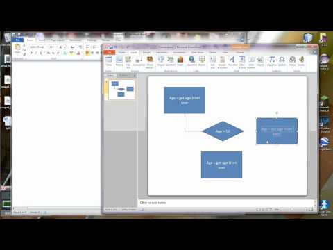 Using Microsoft Office to draw Flowcharts