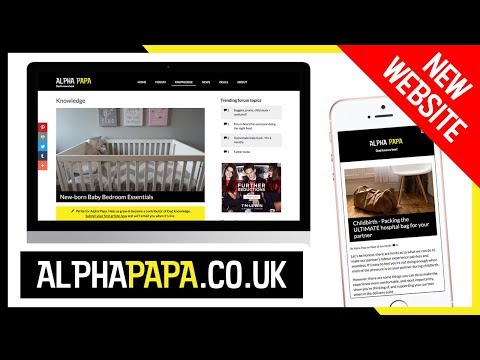I've launched a NEW WEBSITE and it's called AlphaPapa.co.uk