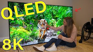 Is QLED better than OLED? - Unboxing a Massive QLED 8K TV!