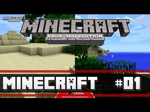 Minecraft Xbox 360 Edition - #01 - Como criar a crafting table (mesa de criação) e a primeira casa?