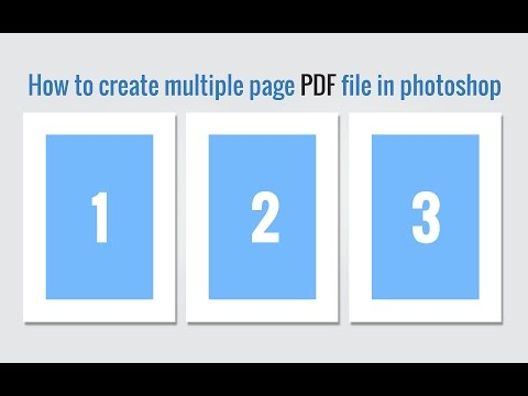 How to create multiple pages PDF file in photoshop