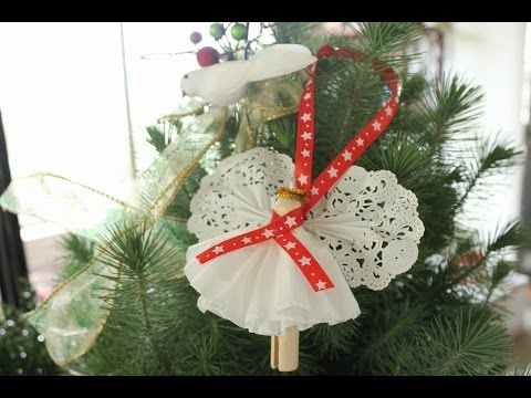 Clothespin Angel Ornament - Christmas Angel Craft