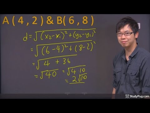 ʕ•ᴥ•ʔ Quickly Find the Distance Between 2 Points using the Distance Formula