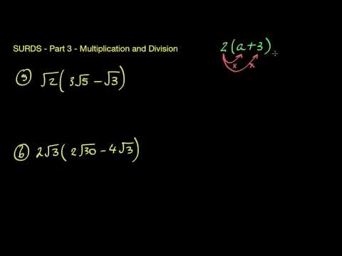 Surds/Radicals 3 - Multiplication and Division (and brackets)