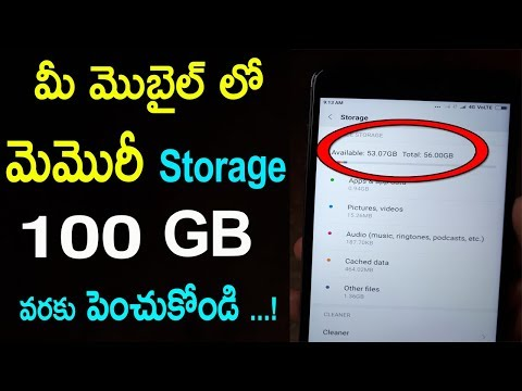How to Increase Your android  Phones Internal Storage upto 100 GB  In Telugu | By telugu tech world