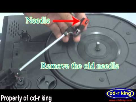 How to Replace a CD-R king Turntable Needle