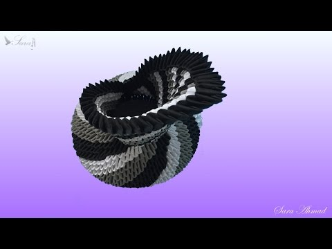 How to make 3d origami vase 12 - part 2