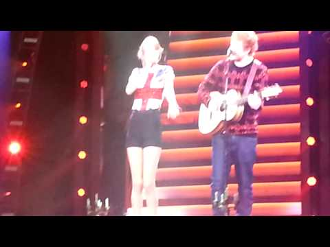 Taylor Swift O2 Arena with Ed Sheeran 1 Feb 2014