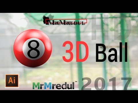 How To Create A 3D Sphere Billiard Ball In Illustrator | Tutorial Of Adobe Illustrator CC 2017
