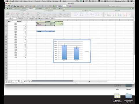 Creating a graph in Excel (for mac computers)