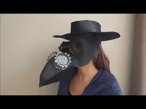 How to make a cardboard plague doctor mask