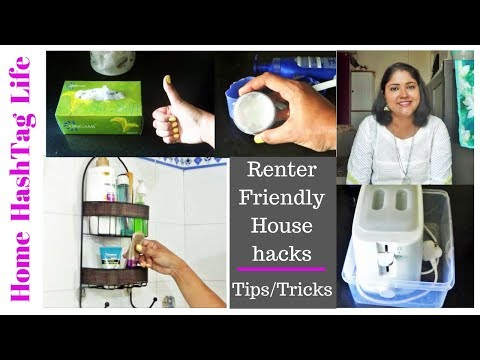 Tips/Tricks    12 Household Tips/Tricks For Small Apartment  Renter Friendly Home Organization Hacks