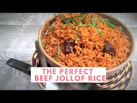 ✔How to cook the Perfect  Beef Jollof Rice